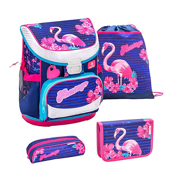 Schulranzenset Mini Fit Flamingo, 4-tlg.