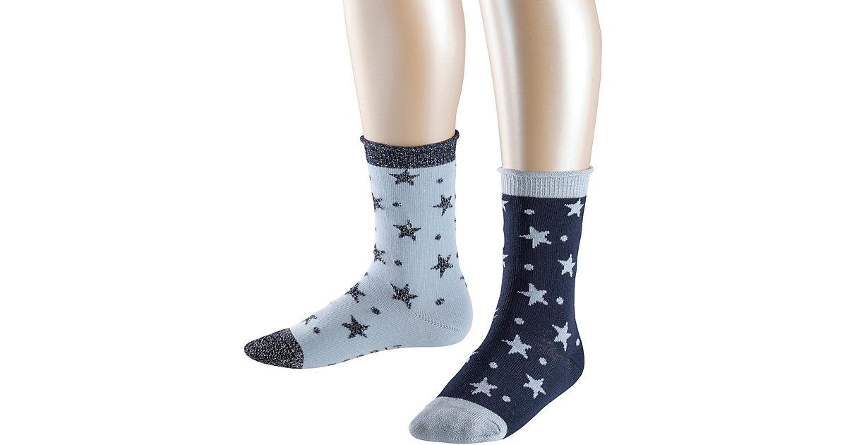 Socken Dots & Stars 2er-Pack  blau Gr. 23-26 Mädchen Kleinkinder