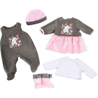 myToys-Collection Puppenkleidung-Set Elefant rosa/grau, 5 tlg. von Bayer