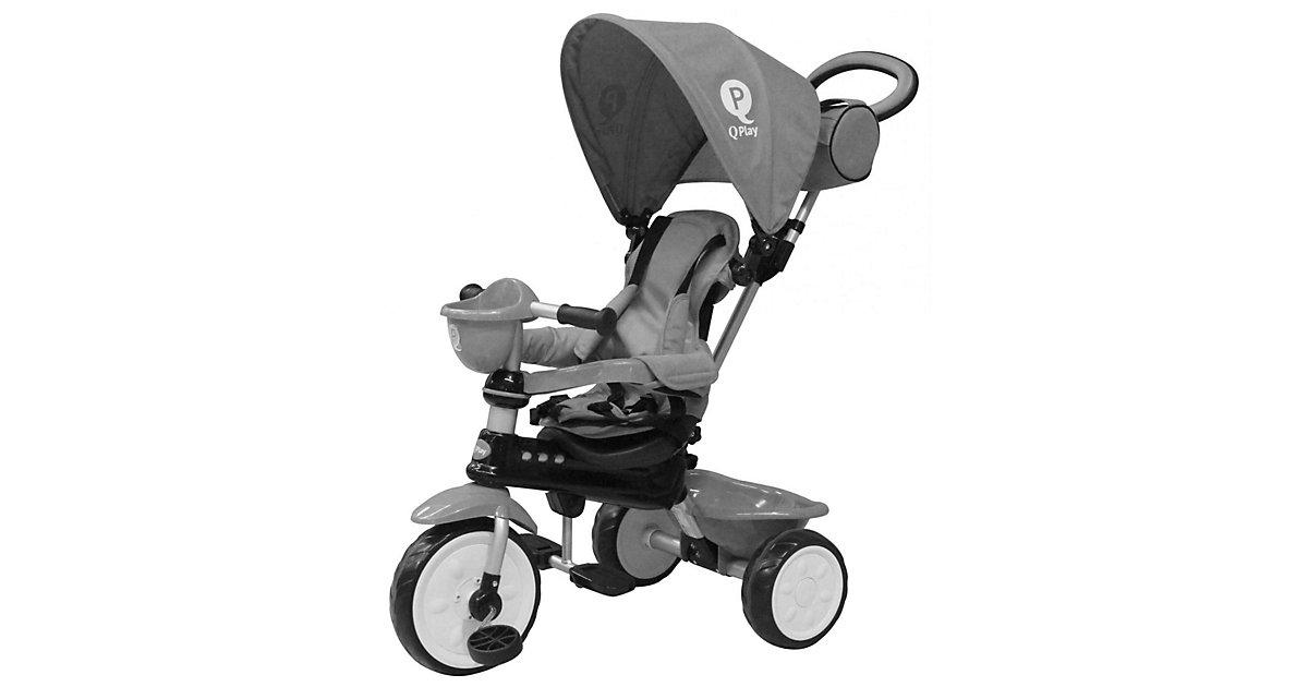 QPlay Dreirad Komfort 4 in 1 - Jungen und Mädchen - Grau grau Gr. 10