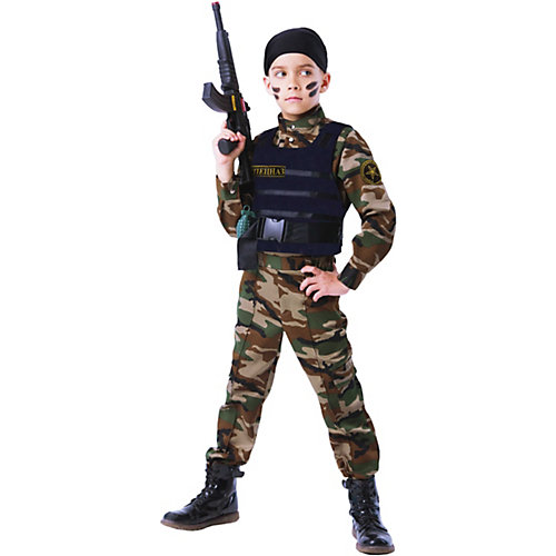Карнавальный костюм Батик, Спецназ - разноцветный от Пуговка