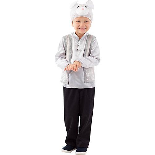 Карнавальный костюм Батик, Мышонок Матвей - серый от Пуговка