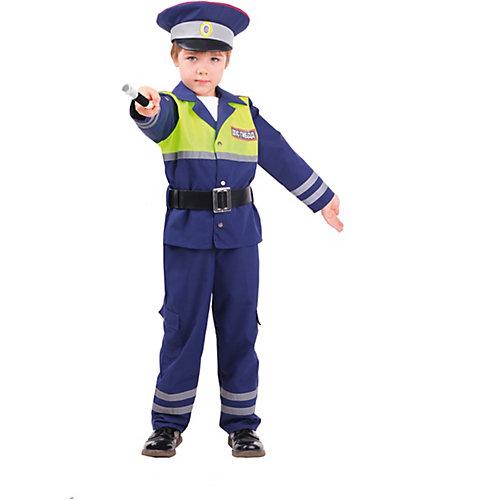 Карнавальный костюм Батик, Инспектор ДПС - синий от Пуговка