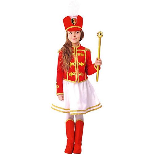 Карнавальный костюм Пуговка, Мажоретка - красный от Пуговка