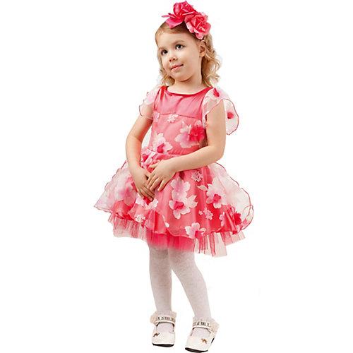 Карнавальный костюм Батик, Розочка - красный от Пуговка