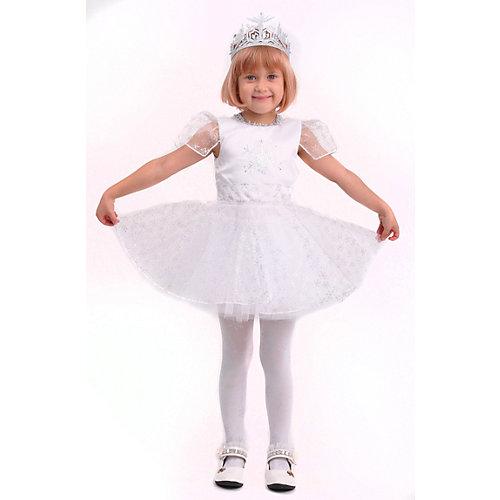 Карнавальный костюм Батик, Снежинка Снежка - белый от Пуговка