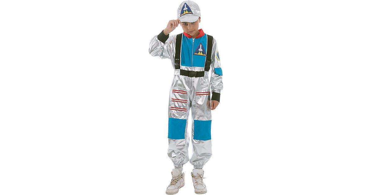 Kostüm Astronaut blau/silber Gr. 164 Jungen Kinder