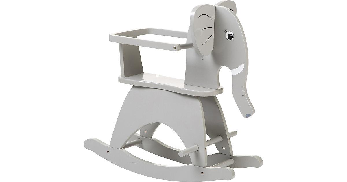 Schaukelelefant inkl. Sicherheitsbügel, grau