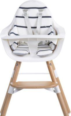 Sitzkissen Evolu, Streifen marin, weiß  Kinder
