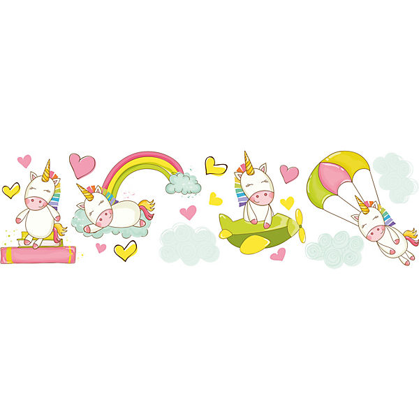 Wandsticker Baby Unicorns