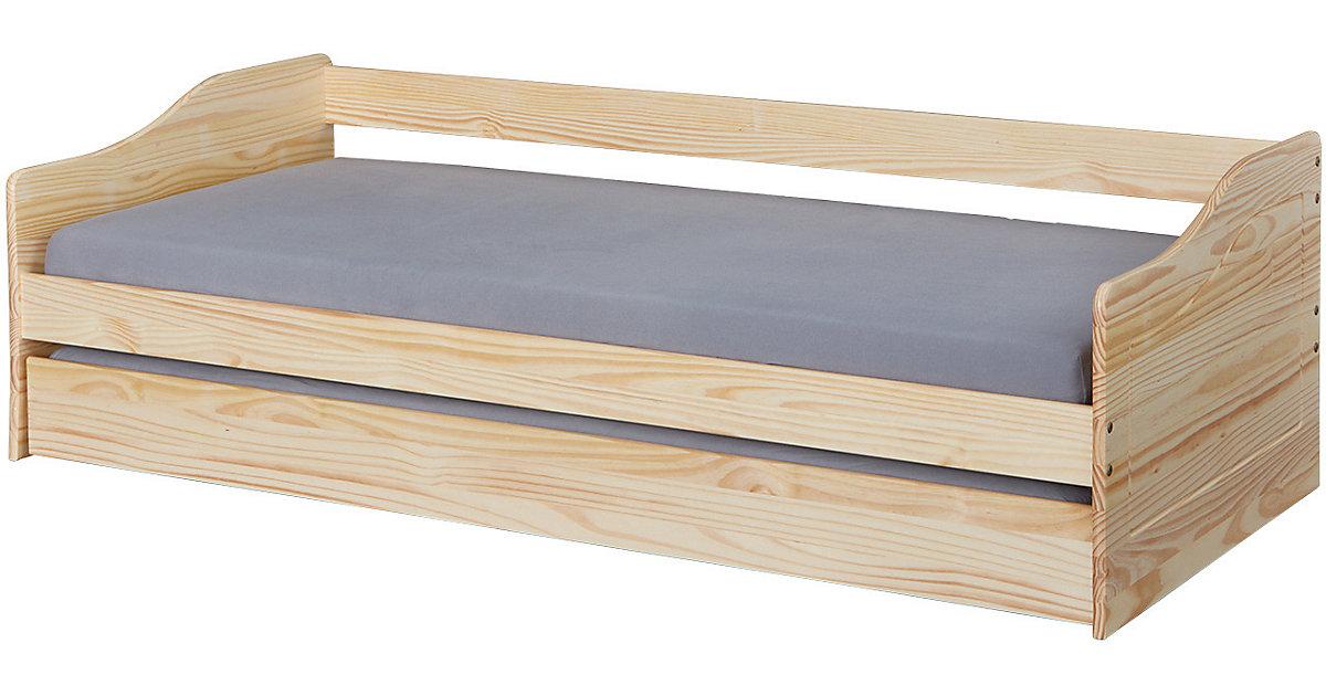 Sofabett Malte mit Funktionsschubladen, 90 x 200 cm, natur