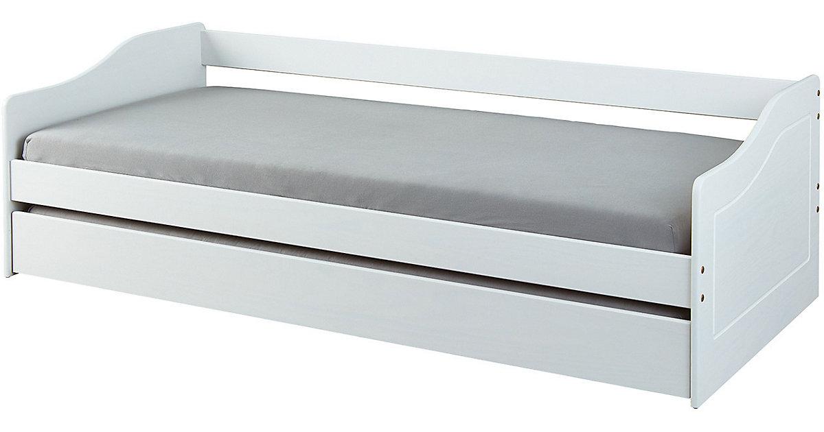 Sofabett Malte mit Funktionsschubladen, 90 x 190 cm, weiß