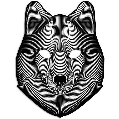 "Cветовая маска GeekMask ""Shadow Wolf"", со звуком - разноцветный от GeekMask"