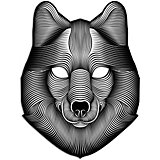 "Cветовая маска GeekMask ""Shadow Wolf"", со звуком"