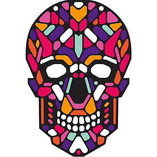"Cветовая маска GeekMask ""Sugar Skull"", со звуком - разноцветный от GeekMask"