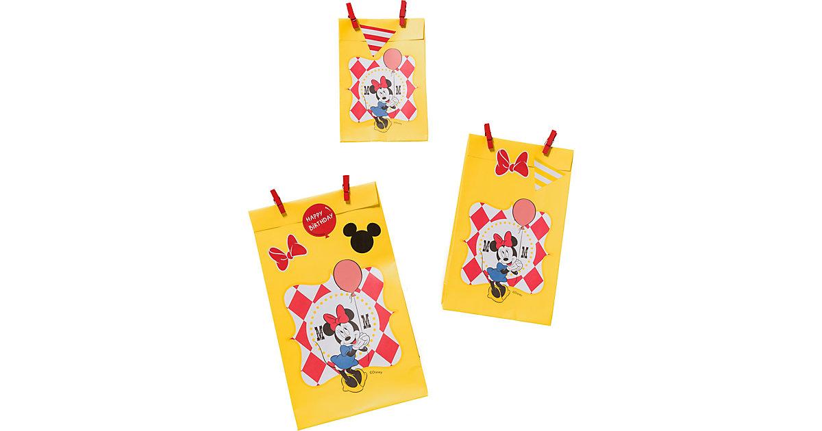 """ZOEWIE Flat Bags Geschenktüten """"Minnie's Time!"""", 6 Stück inkl. Klammern"""
