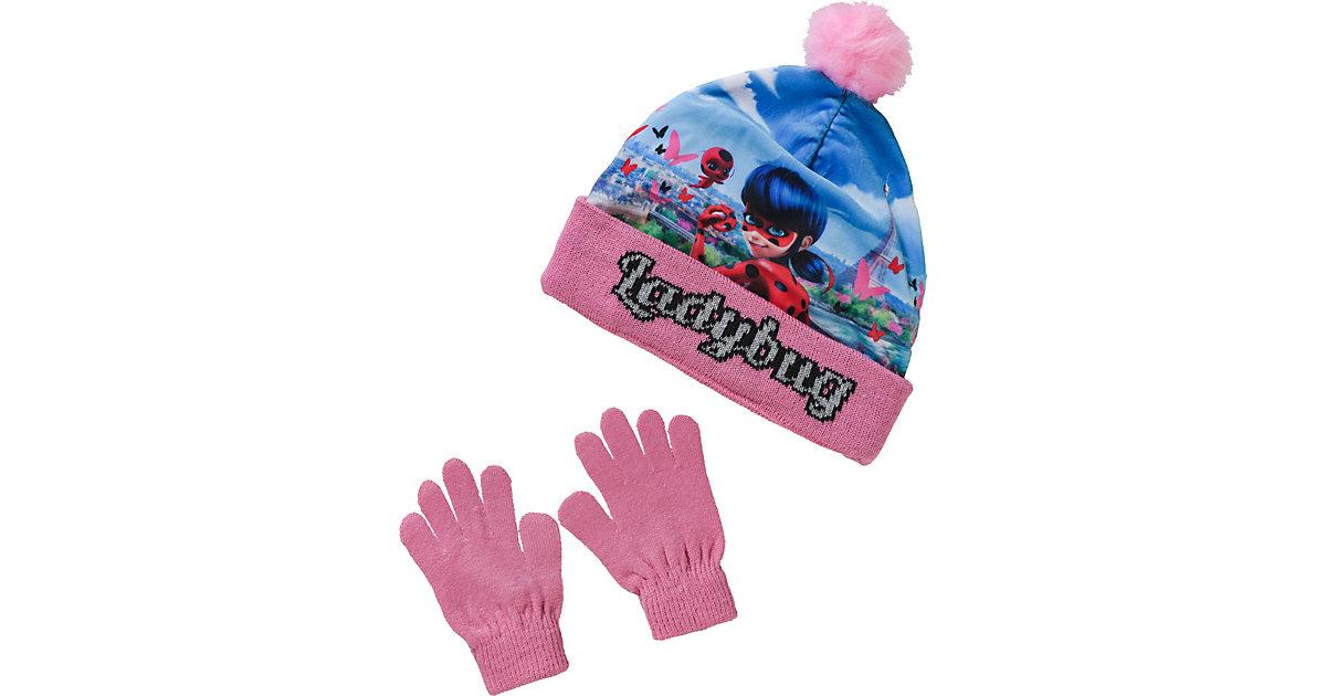 Miraculous Set, Mütze + Handschuhe  pink Gr. 52 Mädchen Kleinkinder