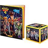 Альбом Panini История игрушек и бокс с наклейками, 36 пакетиков в боксе