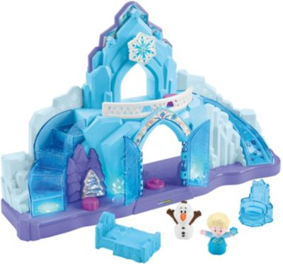 Fisher-Price Little People Frozen Elsas Eispalast, Spielfiguren-Set, Spielset mit Musik, Disney Die Eiskönigin