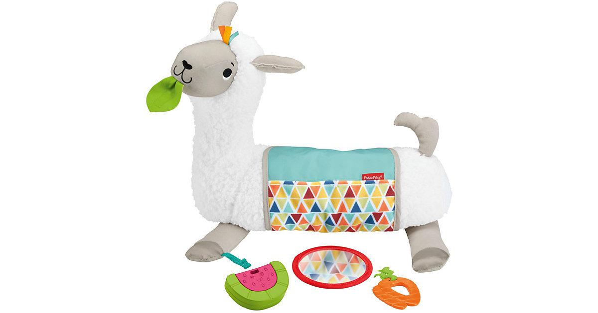 Fisher-Price 4-in-1 Lama Spielkissen Bauchlage, Baby-Spielzeug Neugeborene  Kinder
