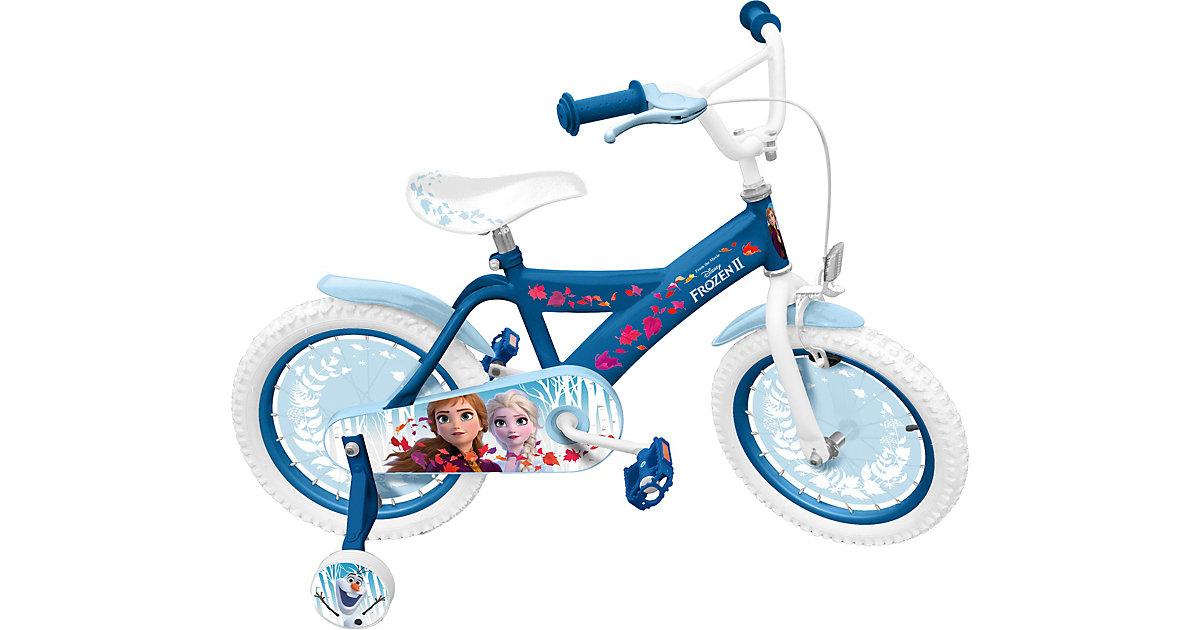 FROZEN 2 Kinderfahrrad mit Stützräder, 16 Zoll blau   Kinderzimmer > Spielzeuge > Kinderfahrräder   Stamp