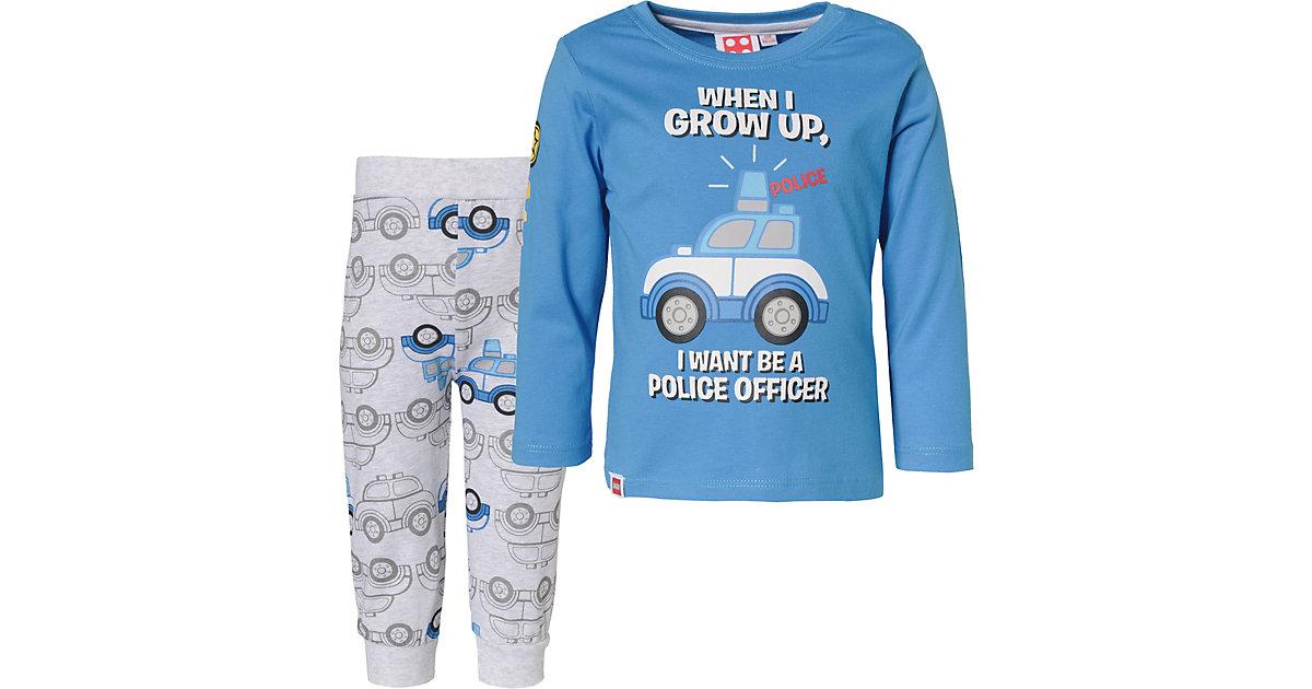LEGO Baby Schlafanzug  blau Gr. 68 Jungen Baby