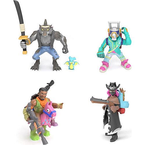 Игровой набор Moose Fortnite, 4 фигурки: Оборотень, Темный рейнджер, Эм Си Лама, Наездник от Moose