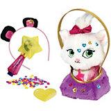 Мягкая игрушка Shimmer Stars Котенок с сумочкой, 20 см