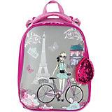 """Ранец Brauberg Premium """"Париж"""", с брелоком, розовый"""