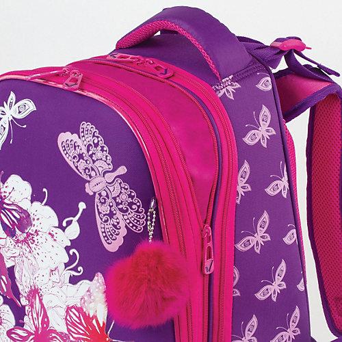 """Ранец Brauberg Premium """"Бабочки"""", с брелоком, фиолетовый - фиолетовый от Brauberg"""