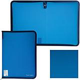 Папка на молнии Brauberg, А4, синяя
