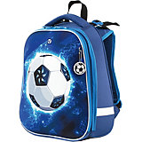 "Ранец Brauberg Premium ""Футбол"", с брелоком, синий"
