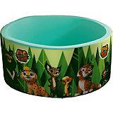 """Сухой бассейн Hotenok """"Лео и Тиг"""", мятный с зелеными деревьями, 40 см"""