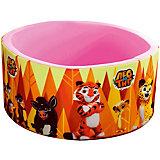 """Сухой бассейн Hotenok """"Лео и Тиг"""", розовый с оранжевыми деревьями, 40 см"""