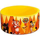 """Сухой бассейн Hotenok """"Лео и Тиг"""", желтый с оранжевыми деревьями, 40 см"""