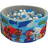"""Сухой бассейн Hotenok """"МиМиМишки"""", серый, 40 см, 200 шариков"""
