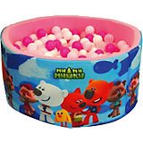 """Сухой бассейн Hotenok """"МиМиМишки"""", розовый, 40 см, 200 шариков"""