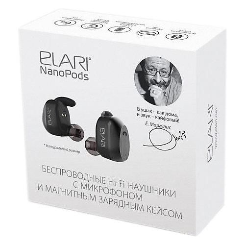Наушники Elari NanoPods, черные от Elari