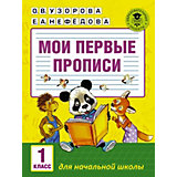 """Мои первые прописи """"Академия начального образования"""" 1 класс"""