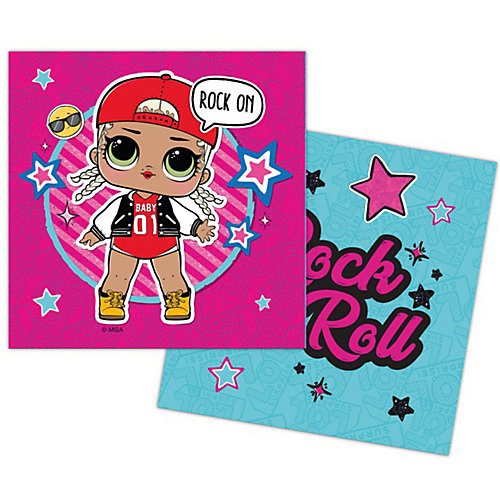 Салфетки бумажные трехслойные L.O.L., 33х33 см - розовый от ND Play
