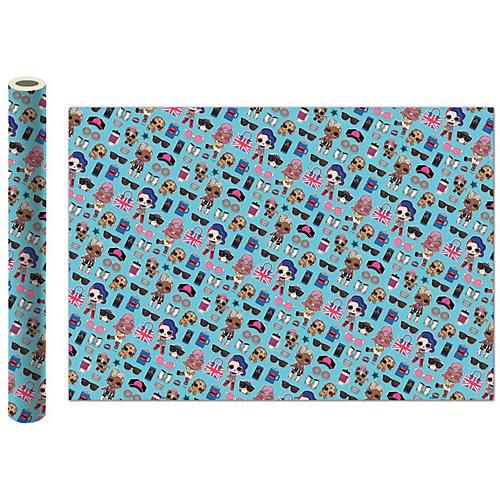 Упаковочная бумага L.O.L., бирюзовая - бирюзовый от ND Play