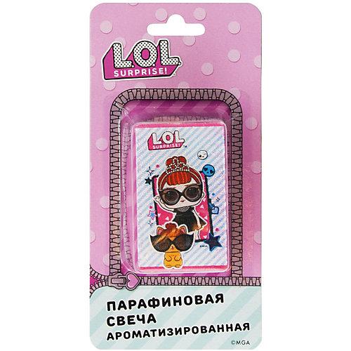 Аромасвеча L.O.L., мятная в полоску - розовый от ND Play