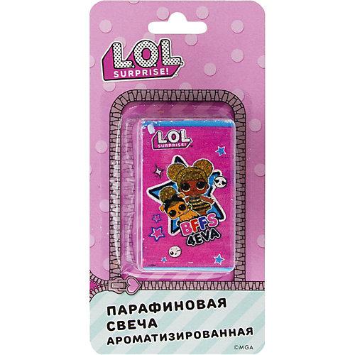 Аромасвеча L.O.L.., бирюзовая с ярко-розовым - розовый от ND Play