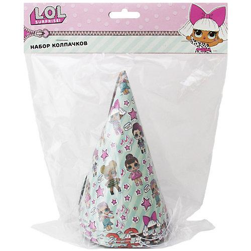 Набор колпачков L.O.L., мятный, 6 шт - розовый от ND Play