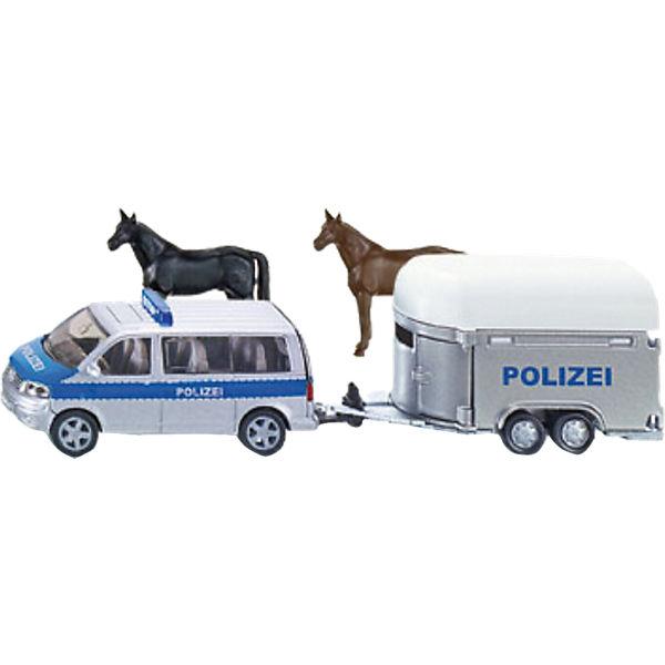 SIKU 2310 Polizei PKW mit Pferdeanhänger  1:55, SIKU
