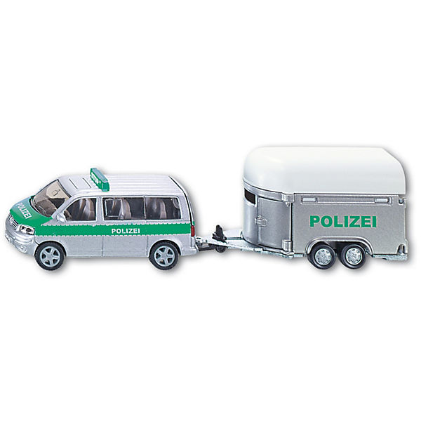 SIKU Polizei 2310 Polizei SIKU PKW mit Pferdeanhänger  1:55, SIKU 808f3a