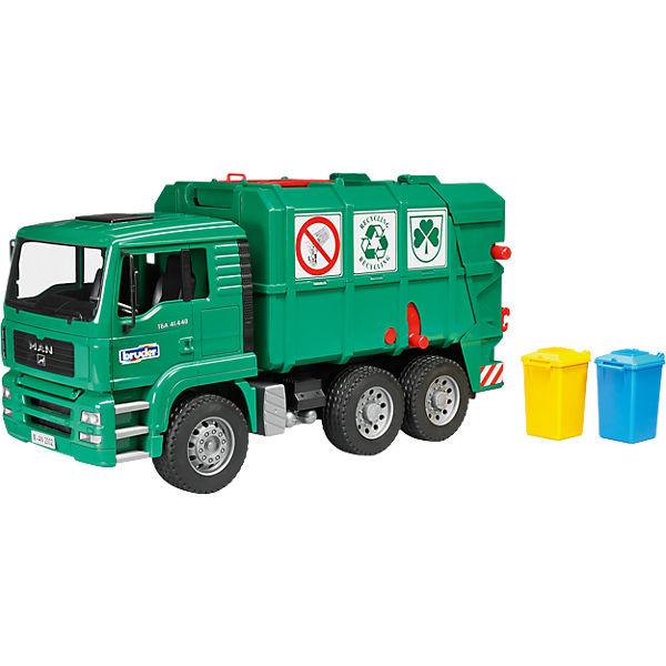 BRUDER 02753 Müll LKW 47cm MAN TGA grün, Bruder