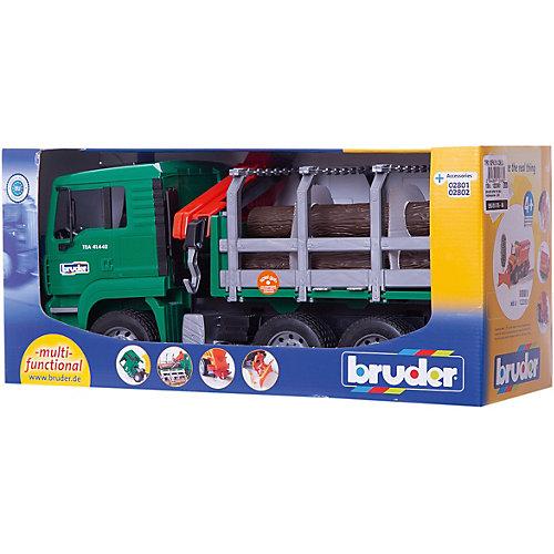 Машинка Bruder Лесовоз MAN, с брёвнами от Bruder