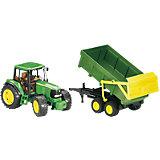 Трактор John Deere с прицепом, Bruder