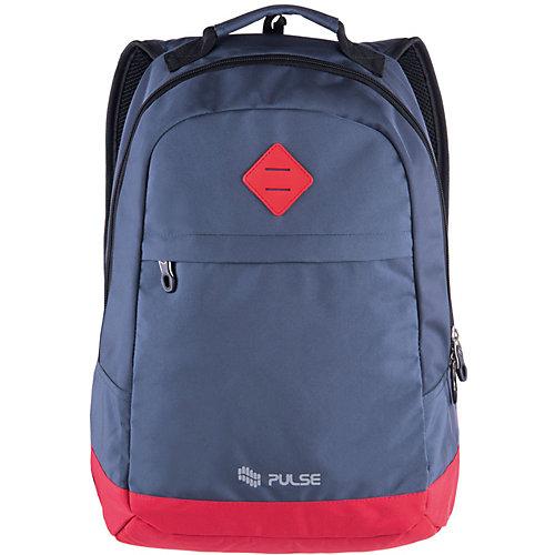 Рюкзак Pulse Bicolor Blue-Red, серо-красный - серый от Pulse